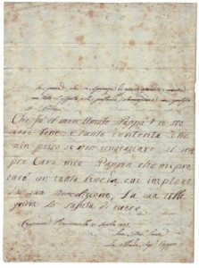 Letter to Lord Byron from his daughter Allegra, 1821